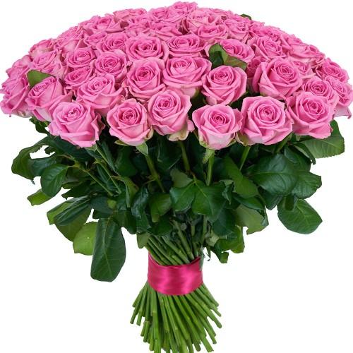 Купить на заказ Букет из 101 розовой розы с доставкой в Ерейментау