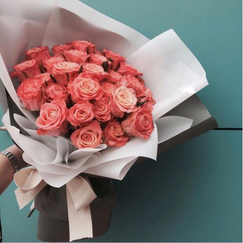 Купить на заказ Букет из 31 розовой розы с доставкой в Ерейментау