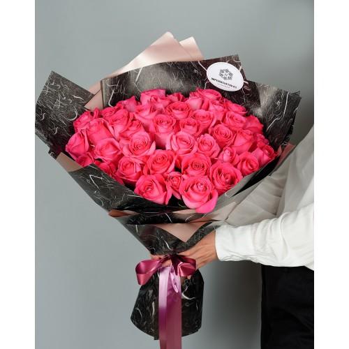 Купить на заказ Букет из 51 розовых роз с доставкой в Ерейментау