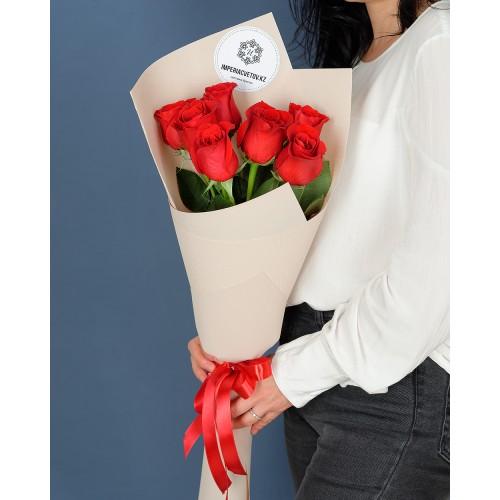 Купить на заказ Букет из 7 роз с доставкой в Ерейментау
