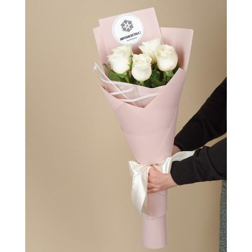 Купить на заказ Букет из 5 роз с доставкой в Ерейментау