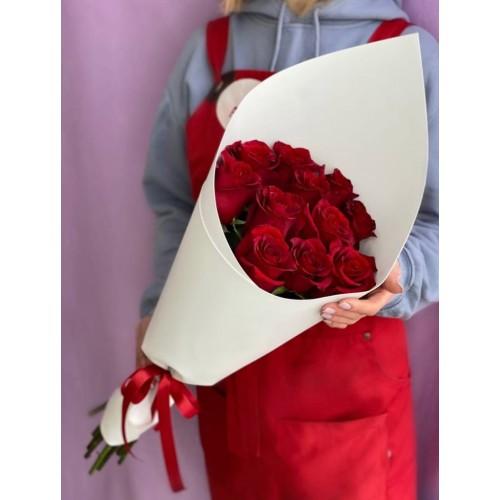 Купить на заказ Букет из 11 красных роз с доставкой в Ерейментау